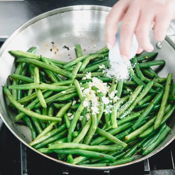 add salt and garlic