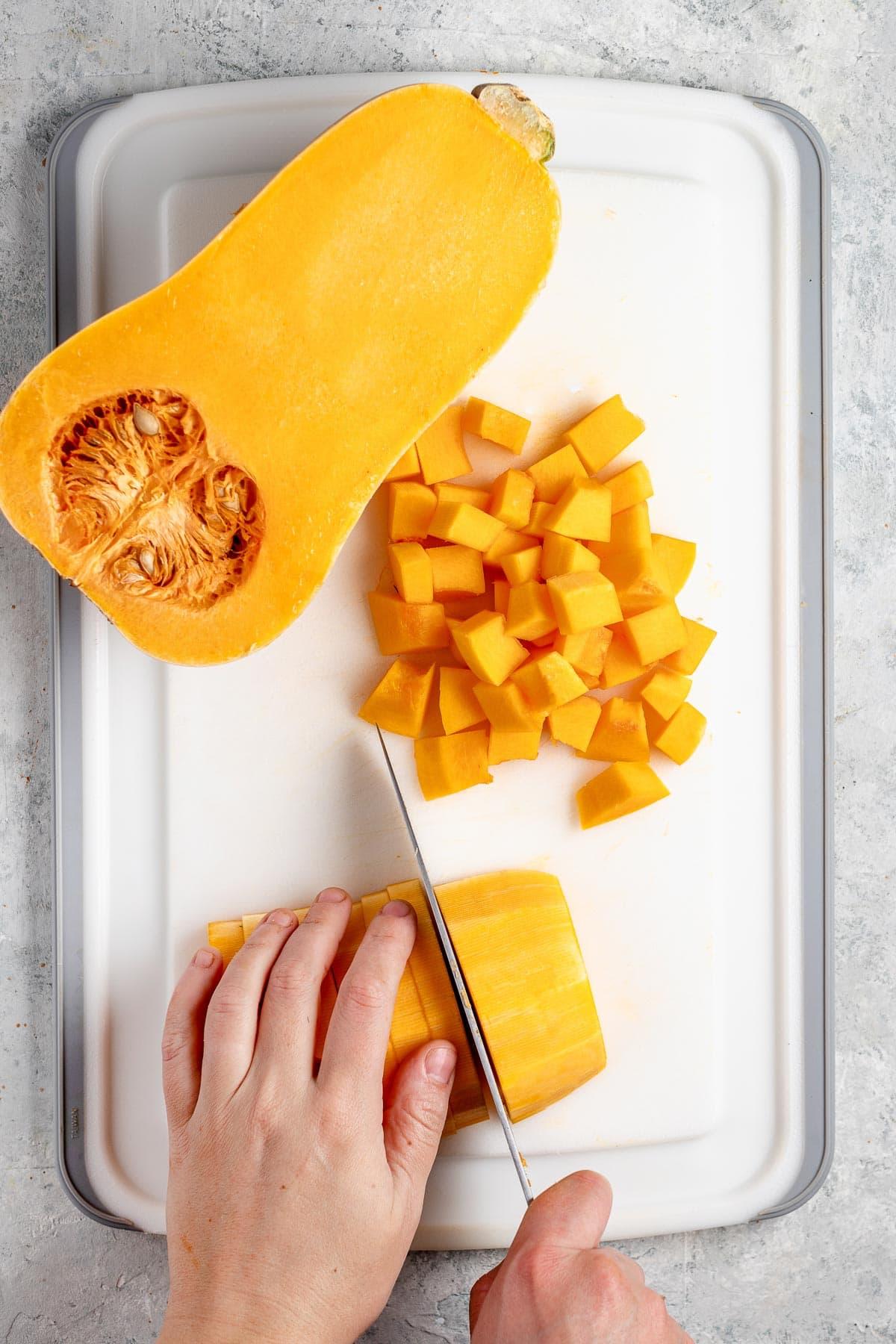 how to cut butternut squash