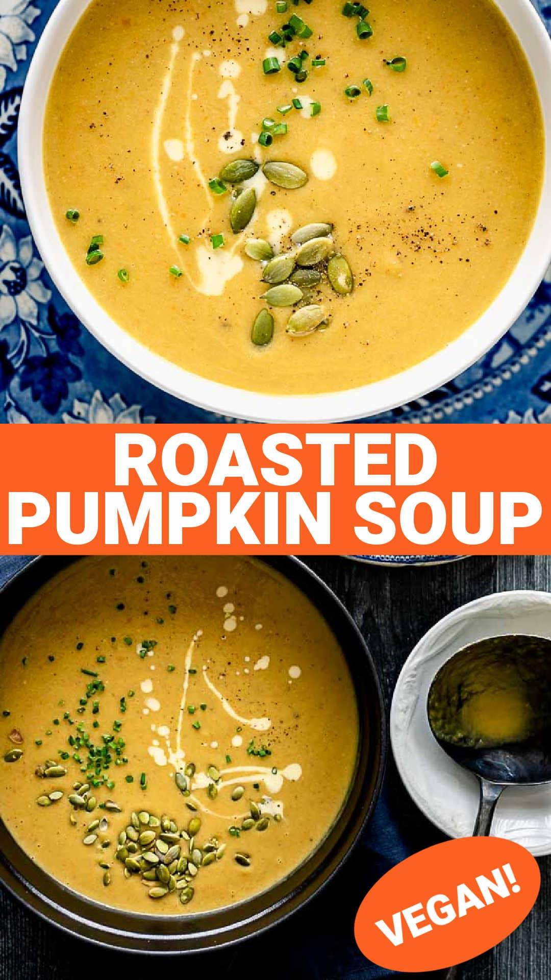 Roasted Pumpkin Soup {Vegan}