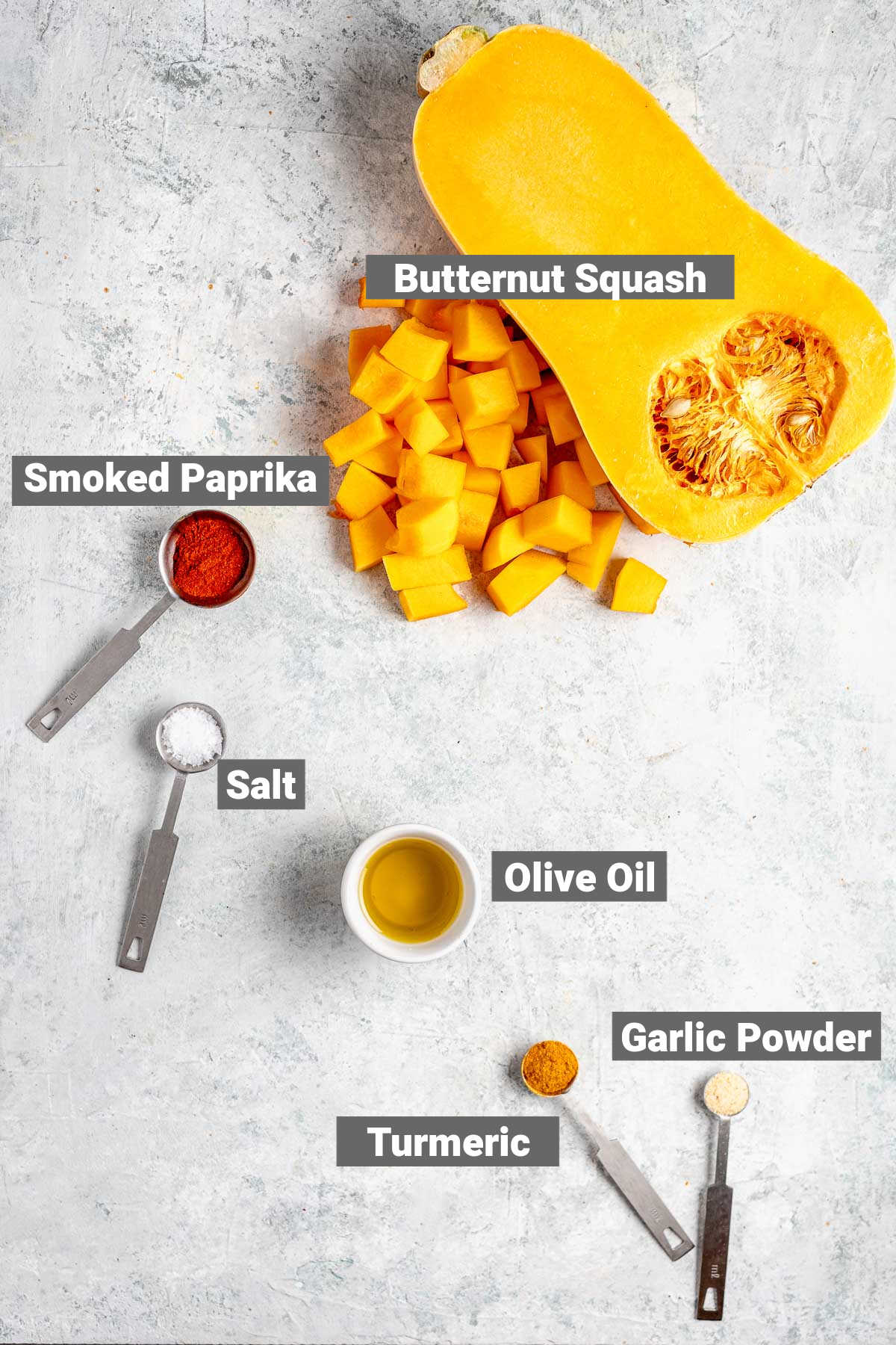 the ingredients you'll need to make this butternut squash recipe