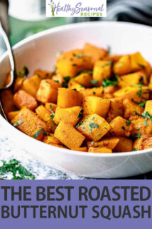 close up bowl roasted butternut squash