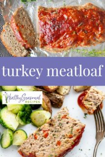 turkey meatloaf collage with text