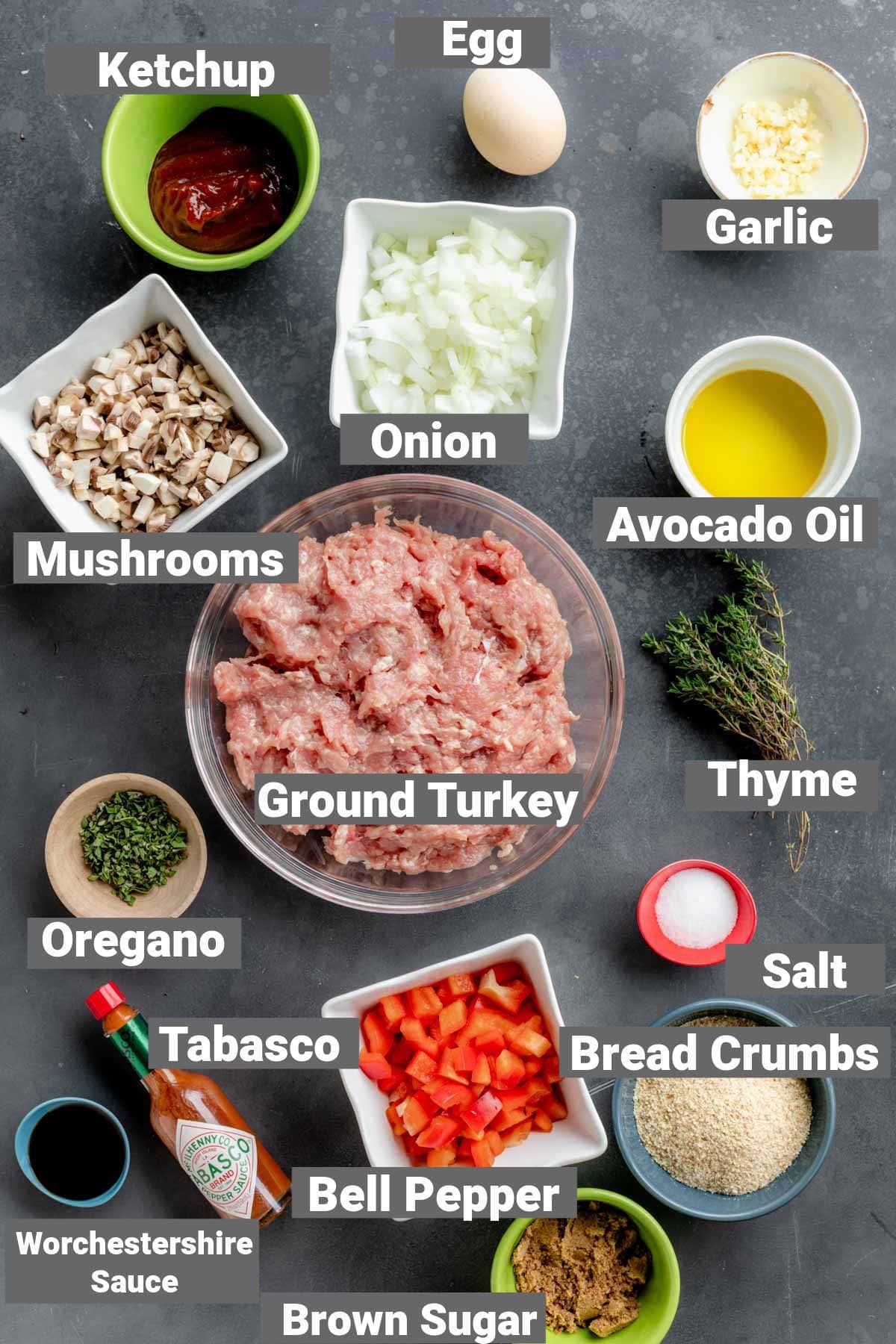 ingredients for turkey meatloaf