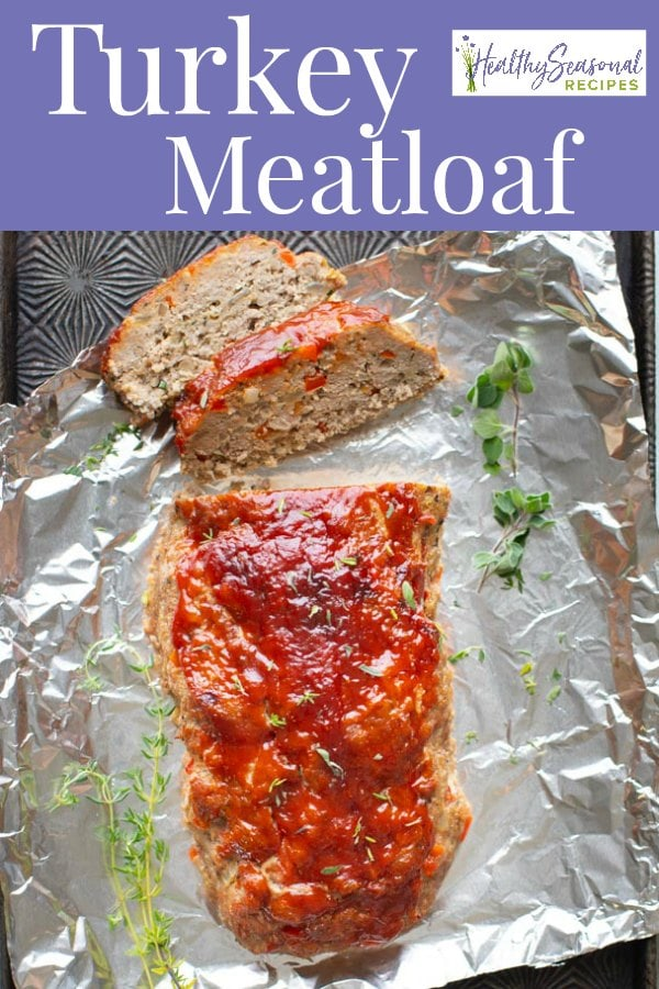Turkey Meatloaf with text overlay