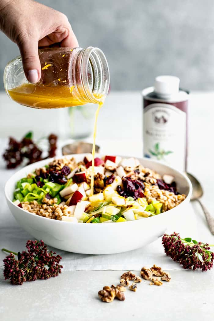 Farro Salad with orange dressing