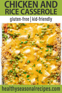 Chicken and Rice Casserole text overlay