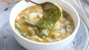 Add pistou or pesto at the last minute just before serving