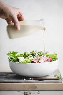 Tahini Dressing with Lemon- pour it over greens with radishes