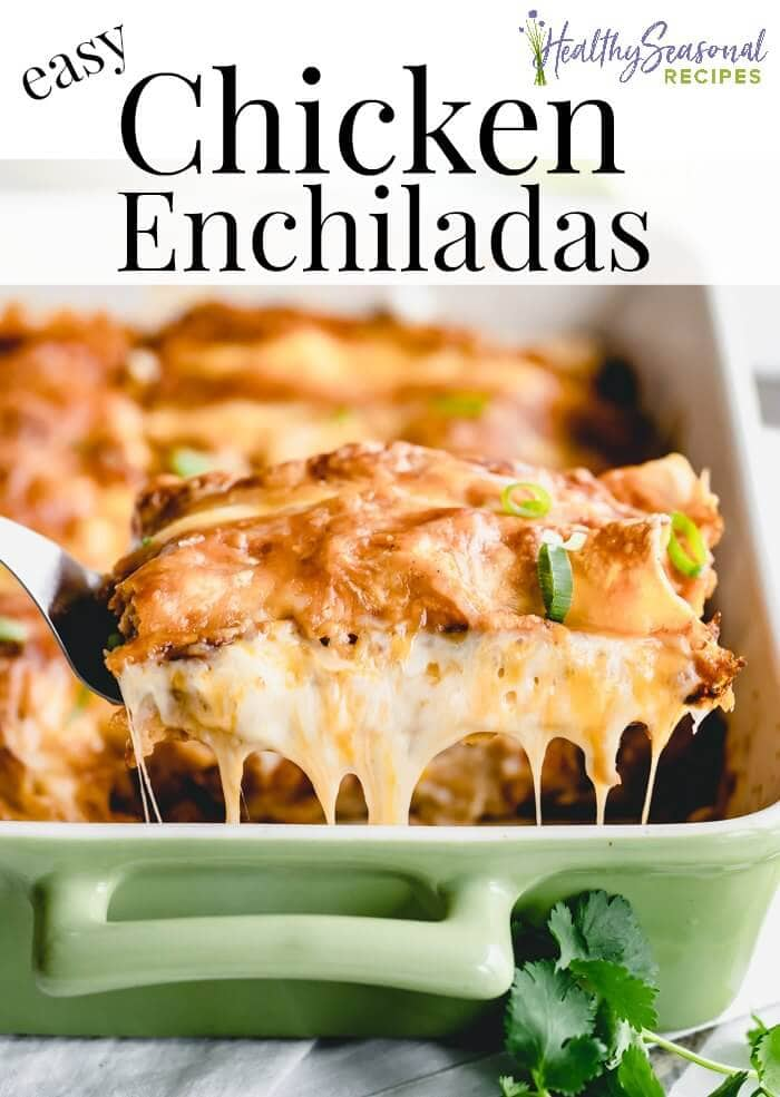 a side view of cheesy enchiladas