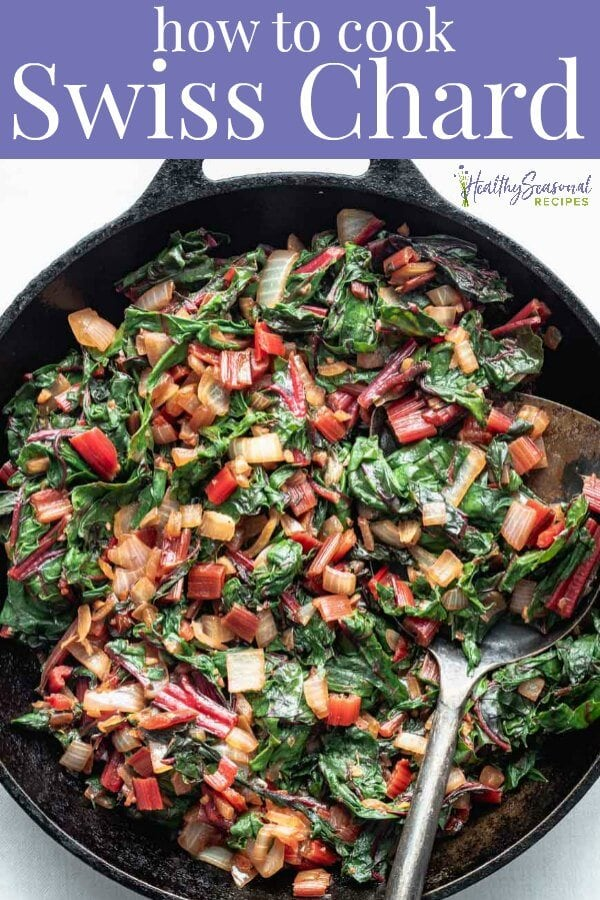 simple sautéed swiss chard