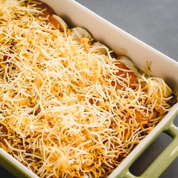 bake and then cover with cheese