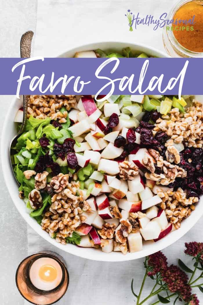 Farro Salad overhead