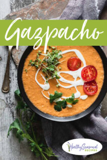 Gazpacho overhead and text
