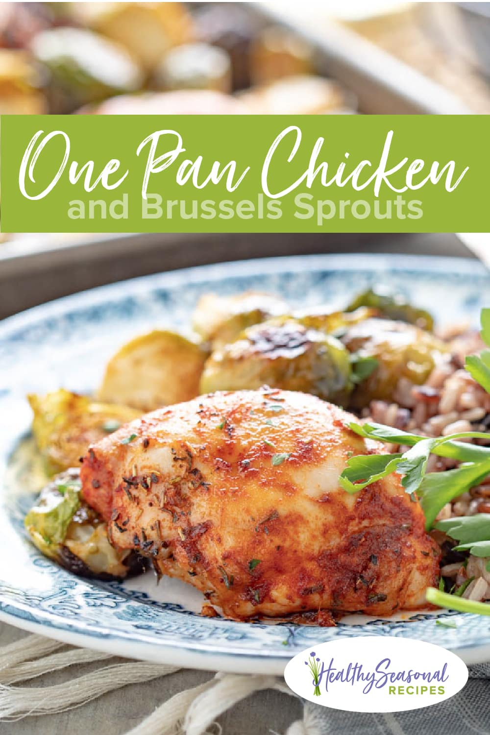 chicken and brussels sprouts sheet pan dinner