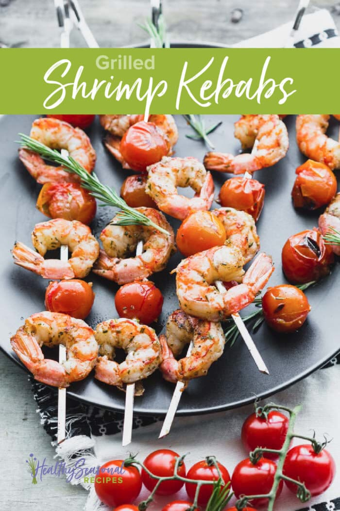 Shrimp Kebabs with text overlay