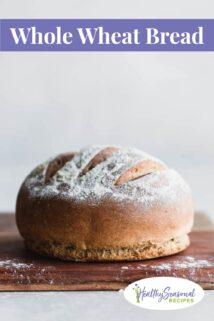 whole wheat bread loaf