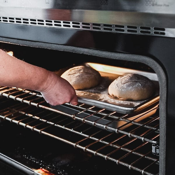 Place the baking sheet in a cold oven, set the heat to 400 degrees and bake for 40 minutes