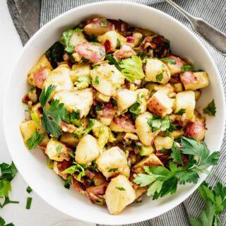 Potato Salad overhead close-up