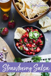 fruit salsas with chips