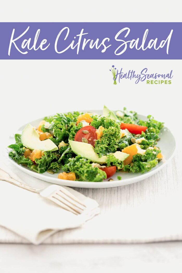 kale salad on white
