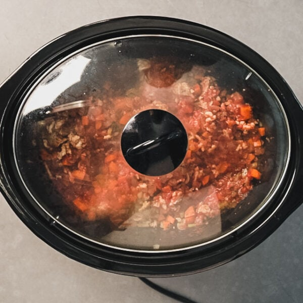 Cover on slow cooker