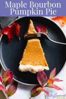 overhead of slice of pie