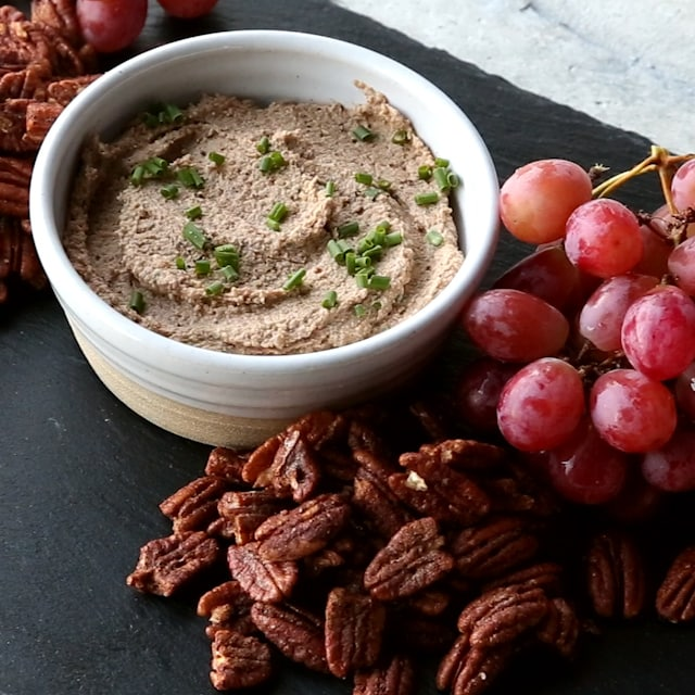 spiced nuts on the charcuterie board