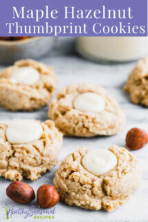 closeup of cookies with creamy maple filling