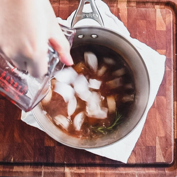 Add ice to chill the brine down.