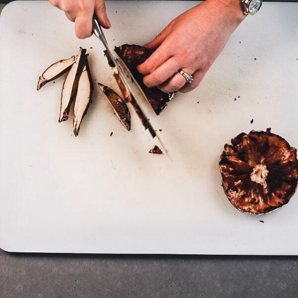 Slice the Portobello