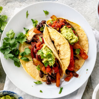 vegan tacos on a plate