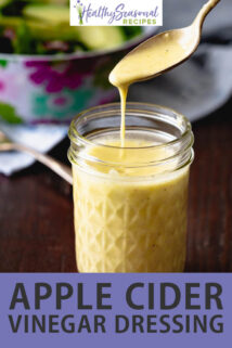 apple cider vinegar dressing jar