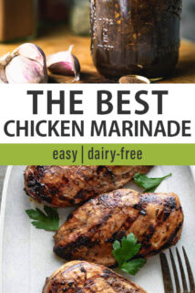 chicken marinade collage