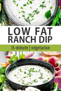 ranch dip collage