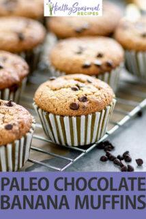 paleo banana muffins text overlay