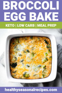 egg bake with text overlay
