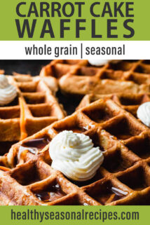 close up carrot cake waffle with butter