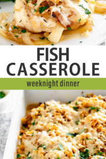 fish casserole text overlay