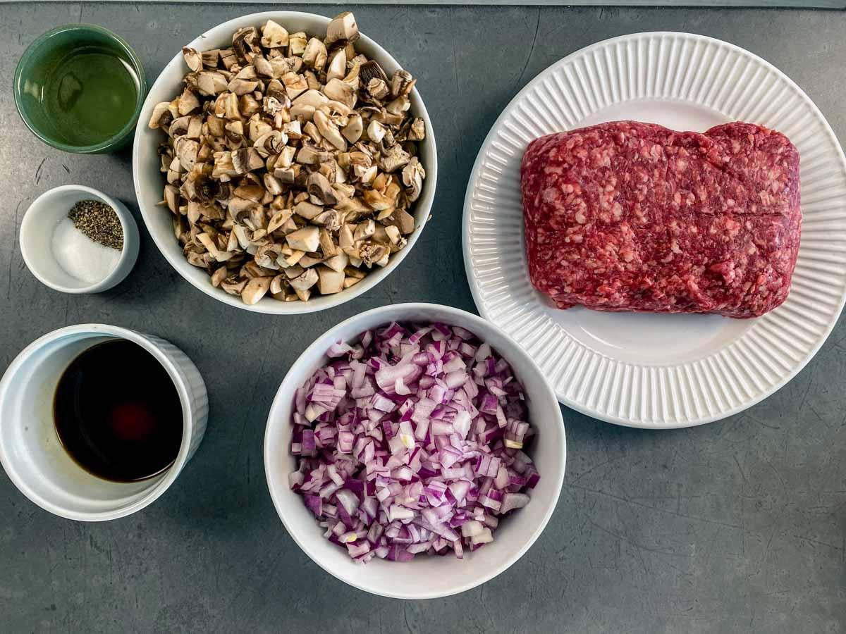 ingredients for the beef mixture