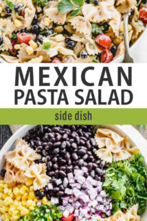 mexican pasta salad collage