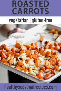 sheet pan roasted carrots