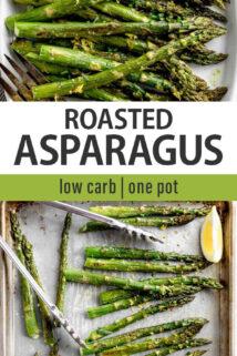 roasted asparagus text overlay