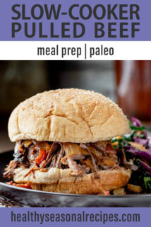Slow-Cooker Pulled Beef text overlay
