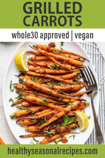 Grilled Carrots text overlay