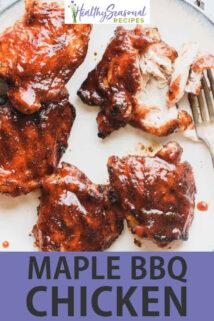 maple bbq chicken text overlay