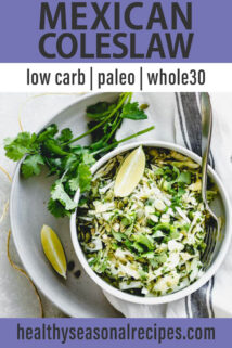 Mexican Coleslaw text overlay