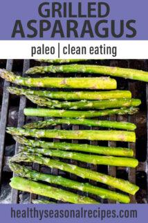 Grilled Asparagus text overlay