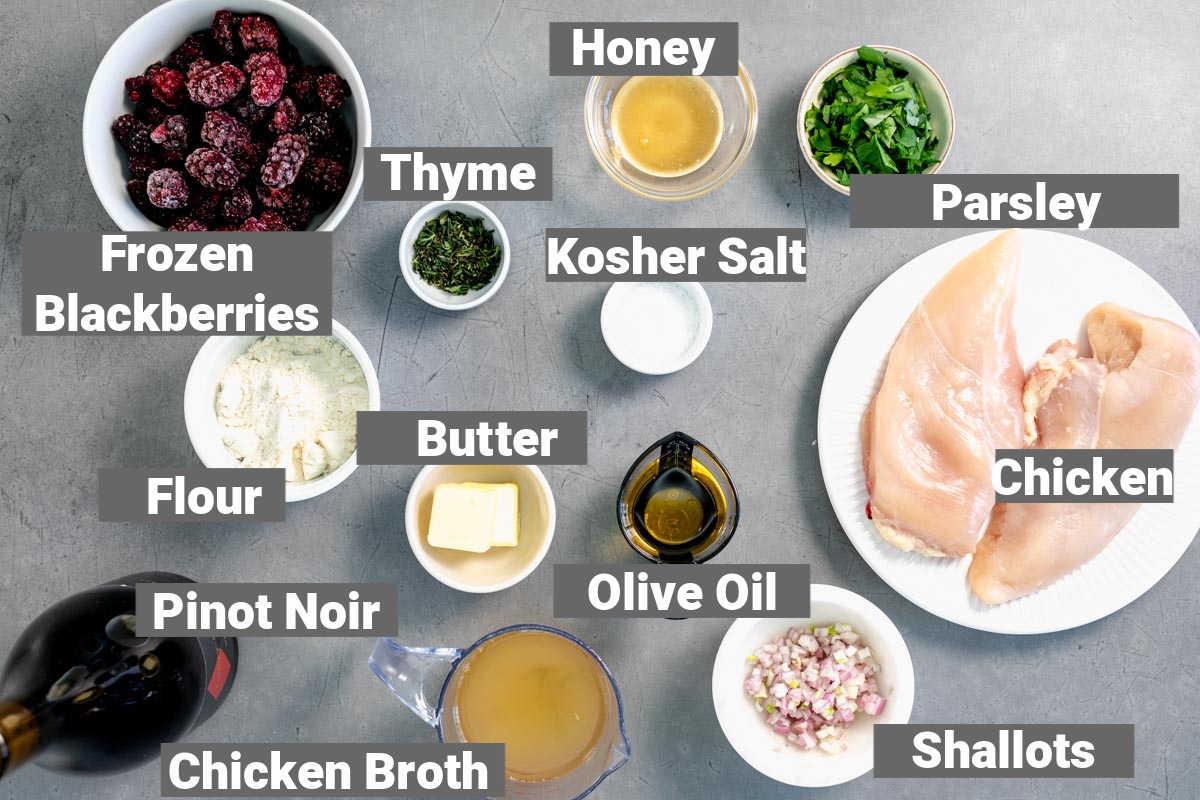 ingredients for blackberry chicken