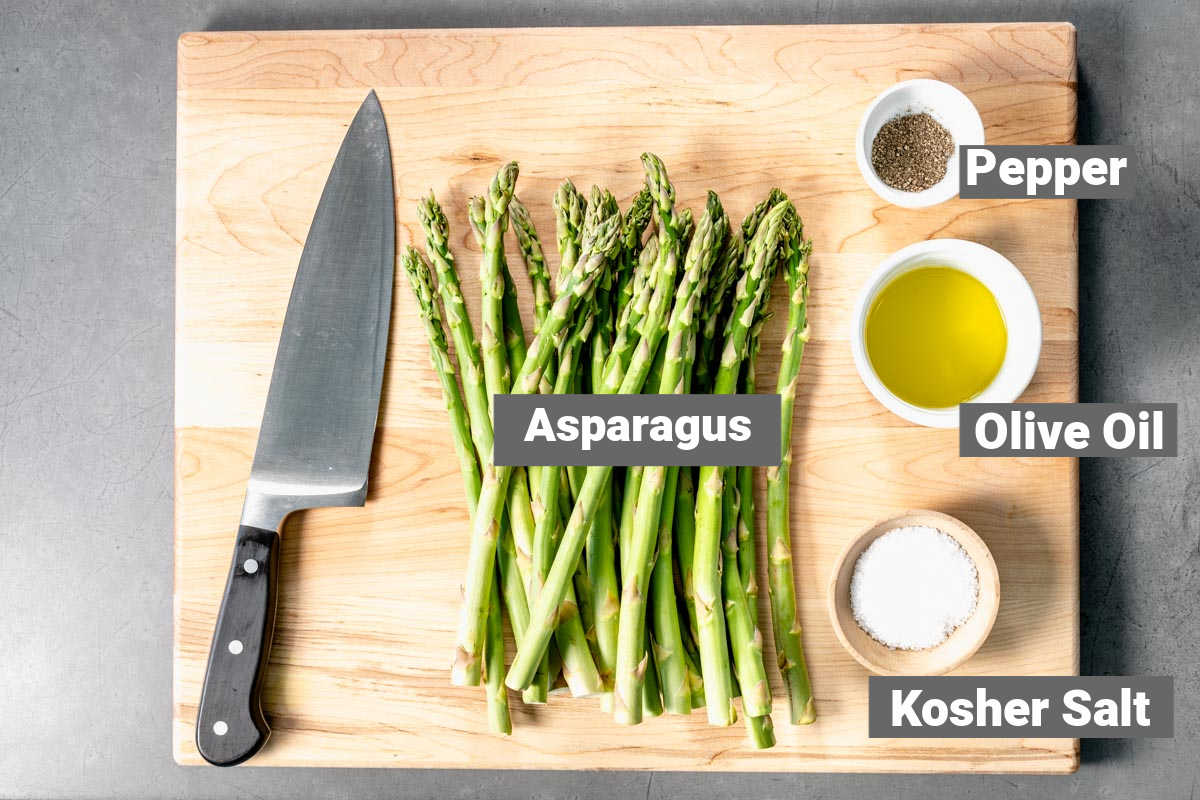 ingredients for grilled asparagus