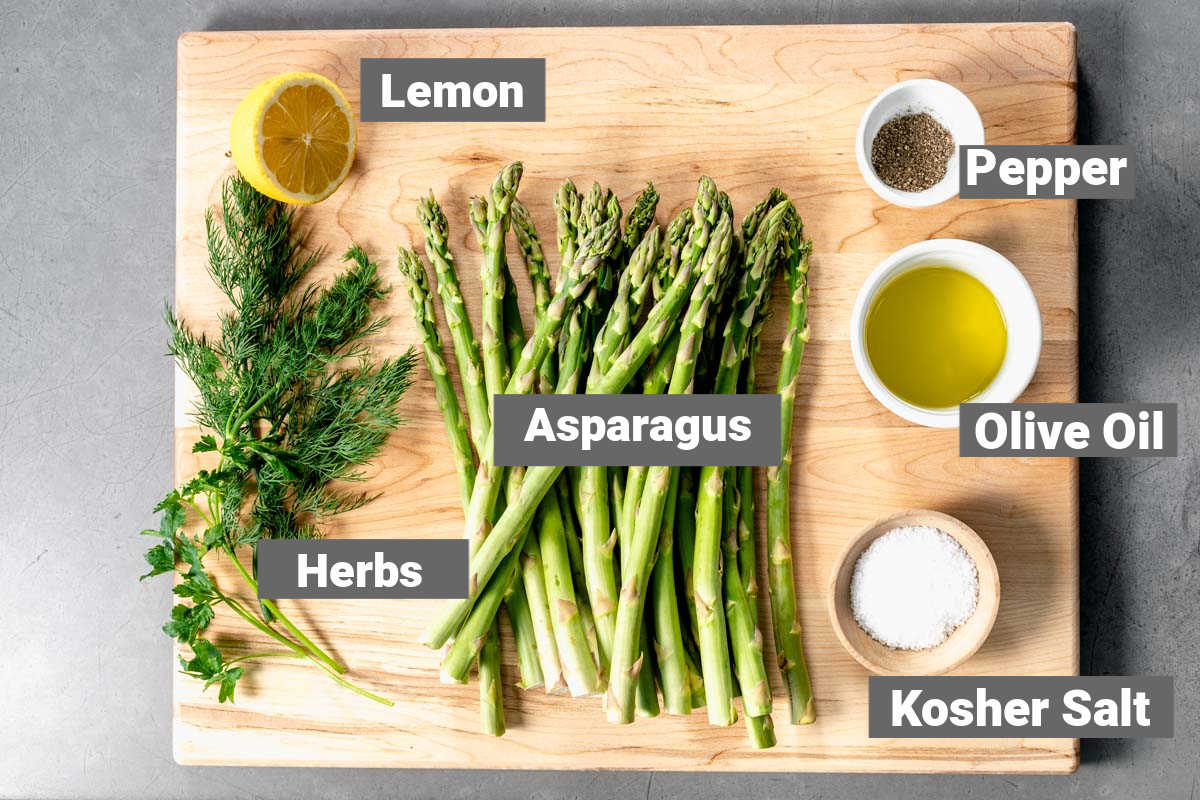 ingredients for roasted asparagus